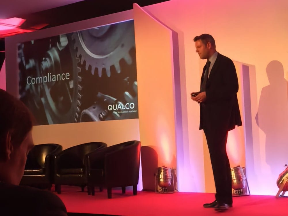 Qualco UK Head of Sales addresses CDSP conference delegates